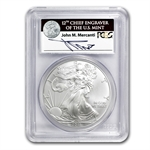 2011 Silver Eagle 25th Anniv MS-70 PCGS John Mercanti